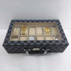 12 Grid Slots PU Leather Watch Box Jewelry Organizer Storage Box Watch Display Storage Case Gift Box
