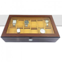 Luxury Wooden Watch Box Watch Holder Box For Watches Men Glass Top Jewelry Organizer Box  Grids Watch Organizer New