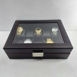 10 Grids PU Slots Wrist Watch Display Box Storage Holder Organizer Watch Case Jewelry Display Watch Box