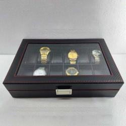 12 Grids PU Slots Wrist Watch Display Box Storage Holder Organizer Watch Case Jewelry Display Watch Box