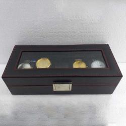 5 Grids PU Slots Wrist Watch Display Box Storage Holder Organizer Watch Case Jewelry Display Watch Box