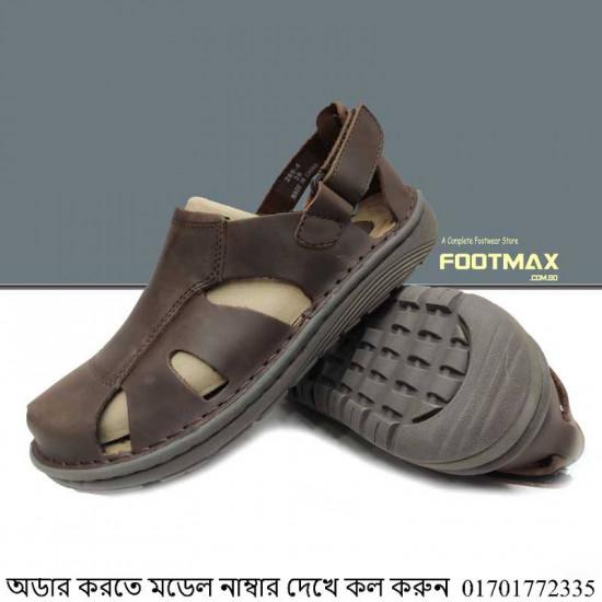 Men's Leather Round Back Belt Sandals