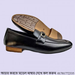 Men Pure Cow Leather Casual Stylish loafer Shoe