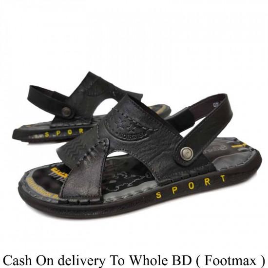 Men's Leather Long lasting  Male Sandals