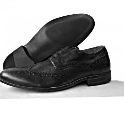Brown & Black Leather Formal Pure Leather Upper Men  shoe