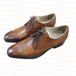 Cow Leather Formal Shoe Men Office Shoe Men brock style