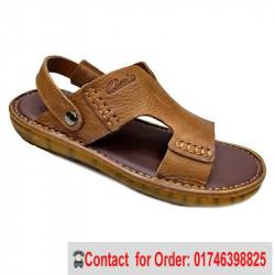 Comfortable Cow Leather Casual  Sandals Shoe men Solid Color