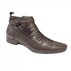 Ankle Style Men Boot Shoe Pointed  Toe Full Leather