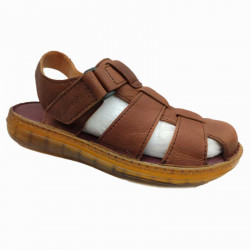 Pure Leather Made Casual Office brown Sandal
