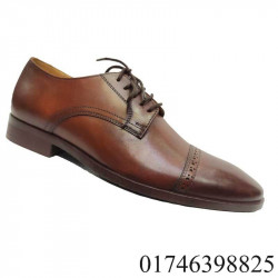 Brown Color Cow Leather Men Formal Shoe Office Shoe