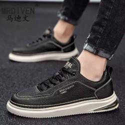 Premium Leather Men Casual Sneaker Summer Outdoor Shoes For Men