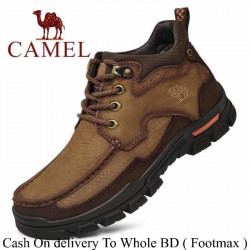 Camel Casual Ankle Style Full Leather Inner Soft Leather Men Rubber Sole