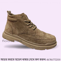Comfortable Ankle Leather Casual boot Shoe Men
