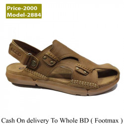 Brown Leather Casual Men Sandals Outdoor Clubwear Men Fashion