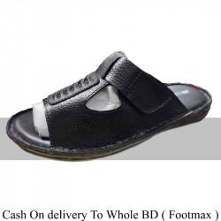 Solid black Color Summer Sandals Men