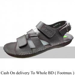 Solid black Color Summer belt Sandals Men