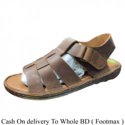 Solid Brown Color Summer belt Sandals Men
