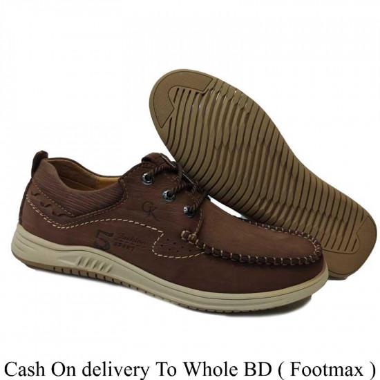 Men Lace Up Leather Casual Shoes Men
