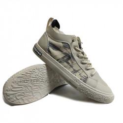 Denim canvas Shoes Men With Rubber Toe