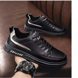 Low Top Casual Shoes White And Black Shoes Front Lace