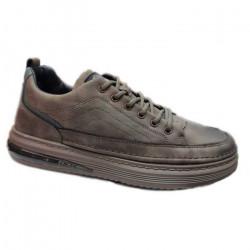 Men Leather Shoes Middle Top Lace Up Lace Shoes